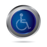 Disabled icon Royalty Free Stock Photography