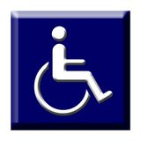 Disabled icon button Royalty Free Stock Photo