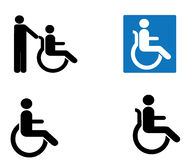 Disabled icon sign Royalty Free Stock Photos
