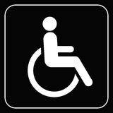 Disabled icon  sign vector Stock Photography