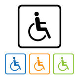 Disabled icon sign. Stock Photography