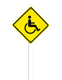 Disabled icon sign on a white Royalty Free Stock Images