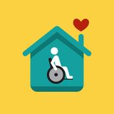 Disabled icon. Social illustrated picture disabled icon Royalty Free Stock Photography