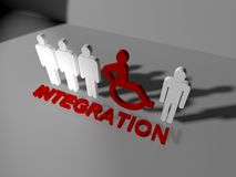 Disabled integration Stock Photography