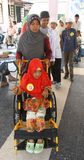 Disabled kids doing fashion show. In solo, central java, Indonesia Royalty Free Stock Image