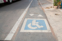 Disabled lane Royalty Free Stock Image