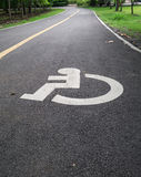 Disabled lane Stock Photography