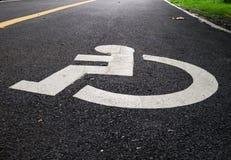 Disabled lane Royalty Free Stock Image