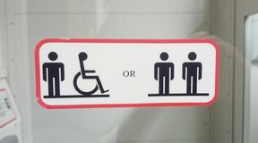 Disabled lift Royalty Free Stock Image