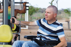 Disabled Male Stock Image