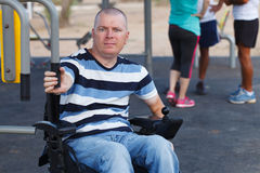 Disabled Male Royalty Free Stock Photography