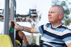 Disabled Male Royalty Free Stock Images
