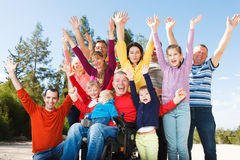 Disabled Man with Group of people Stock Photography
