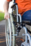 Disabled man Stock Image