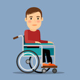 Disabled man in wheel chair Stock Images