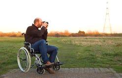 Disabled man royalty free stock image