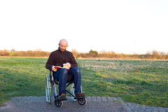 Disabled man Stock Images