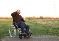Disabled man Stock Photos