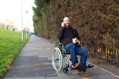 Disabled man Royalty Free Stock Photography