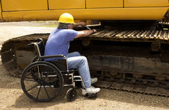 Disabled mechanic Royalty Free Stock Images