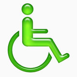 Disabled men on chair sign Stock Images