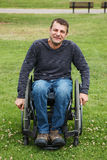 Disabled men in Wheelchair. Stock Images