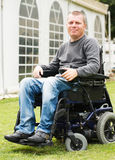 Disabled men in Wheelchair. Stock Photography