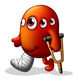 A disabled monster Royalty Free Stock Images