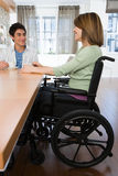 Disabled mother with son Stock Photos
