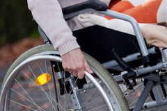 Disabled moving Stock Photo