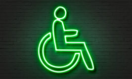 Disabled neon sign Royalty Free Stock Photo