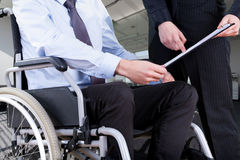 Disabled at office Stock Photos
