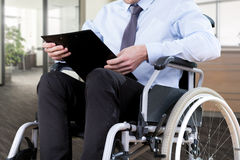 Disabled office worker Stock Image
