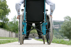 Free Disabled Outdoors Royalty Free Stock Image - 17039196