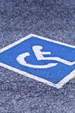 Disabled parking Royalty Free Stock Photos