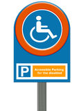 Disabled parking Royalty Free Stock Images