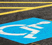 Disabled Parking at Angle Stock Photo