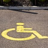 Disabled Parking Bay Stock Photo