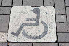 Disabled parking bay Stock Image