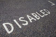 Disabled Parking Bay Stock Photos