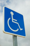Disabled Parking Bay Sign. A sign denoting that people with disabilities are allowed to use a parking bay Royalty Free Stock Photography