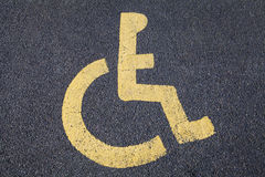 Disabled Parking Bay Stock Images