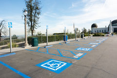 Disabled parking at Griffith Observatory Royalty Free Stock Photography