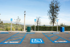 Disabled parking at Griffith Observatory Royalty Free Stock Images