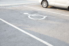 Disabled parking lot Royalty Free Stock Image