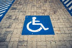 Disabled parking lot Royalty Free Stock Images