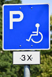 Disabled parking lot sign Stock Image