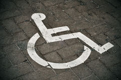 Disabled parking permit Stock Image
