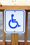 Disabled parking permit sign Royalty Free Stock Image