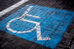 Disabled Parking Place. Parking place for disabled people Stock Photo